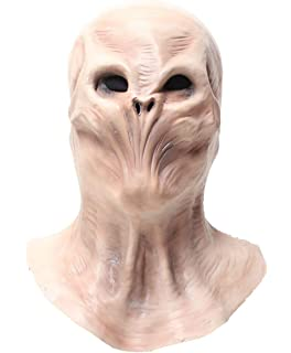 Demi Sharky Alien Mask Halloween Costume Mask Scary Latex Funny Masks White
