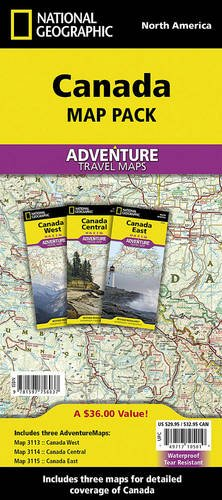 Canada [Map Pack Bundle] (National Geographic Adventure Map) (Road Map Of Canada compare prices)