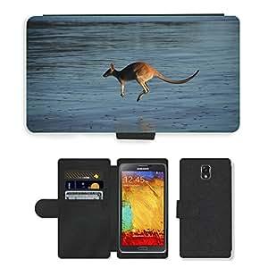 PU LEATHER case coque housse smartphone Flip bag Cover protection // M00116905 Marsupial Agua Saltar Hop // Samsung Galaxy Note 3 III N9000 N9002 N9005