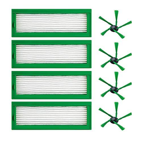 Elevin(TM)  Parts Side Brush Hepa Filters for Vorwerk Kobold VR200 VR-200 Vaccum Cleaner ()