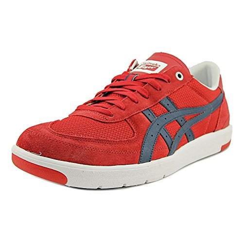 Onitsuka Tiger Pine Star Court Lo Fashion Sneaker,Red/Navy,11.5 M US/13 Women's M US
