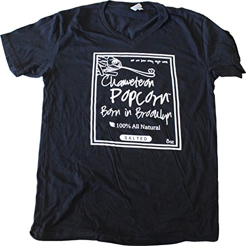 Chameleon Popcorn T-Shirt, Specially Designed for Brooklyn Born, Gourmet, All Natural Popcorn Mania