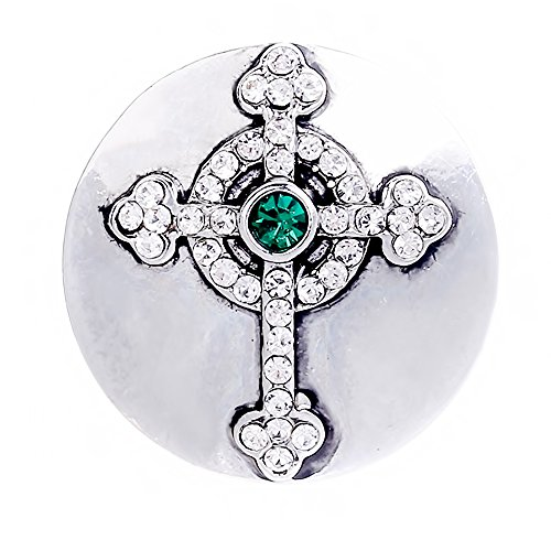 Lovmoment New Snap 20MM Faith Cross Shape Snap Jewelry Button Charms