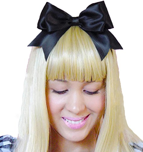 Black Headband Bow Alice in Wonderland Inspired Hair Accessory Handmade by Sweet In The City (Party City Alice In Wonderland Costumes)