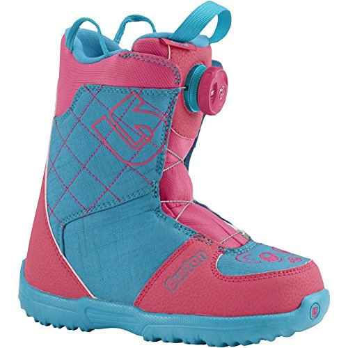 Burton Unisex Grom Boa '16 (Little Kid) Pink/Teal Boot (Grom Lace Boot)