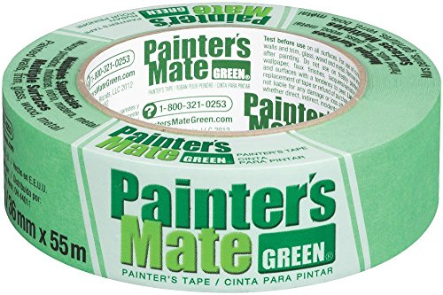 Painter's Mate Green 8-Day Painter's Tape, Multi-Surface, 36mm x 55m, Green, Pack of (Painters Mate Green)