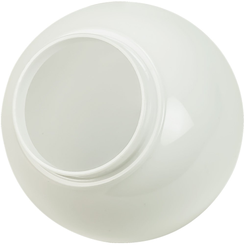 6 in. White Acrylic Globe - 3.25 in. Extruded Neck Opening - American 3201-50650
