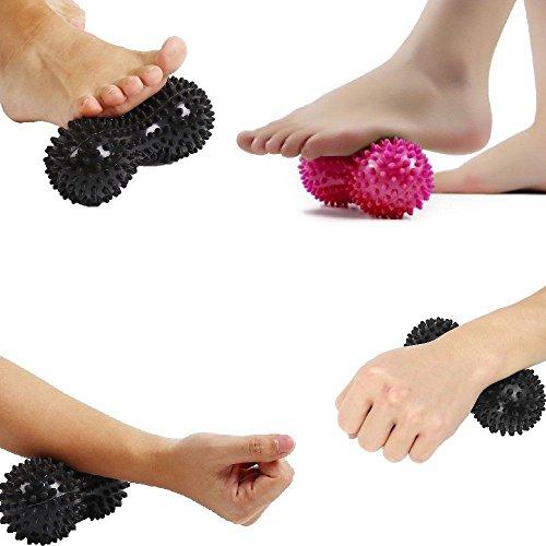 Ulooie réflexologie musculaire Trigger Point Peanut Balle de massage à picots (couleur aléatoire)