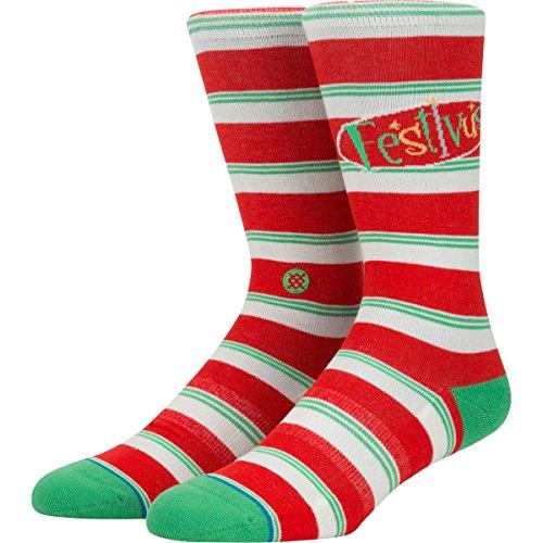 Stance Men's Festivus Socks,Large,Red