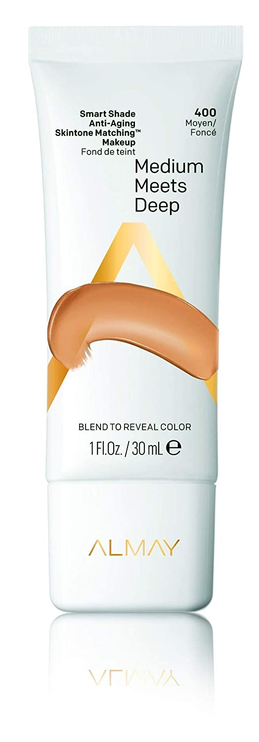 Almay Smart Shade Anti-Aging Skintone Matching Makeup, Hypoallergenic, Cruelty Free, Oil Free, Fragrance Free, Dermatologist Tested Foundation with SPF 20, 1oz