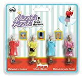 : NPW-USA Lizzies' Fizzies Cocktail/Wine Glass Markers, Queen Elizabeth