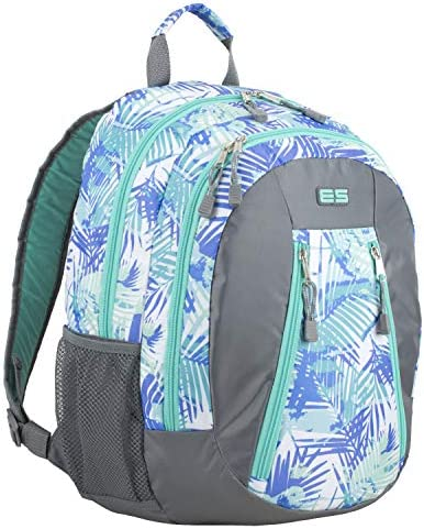 4bcbbb0c277f Eastsport Sport Backpack for School, Hiking, Travel, Climbing, Camping,  Outdoors - Turquoise/Palm Leaves Print