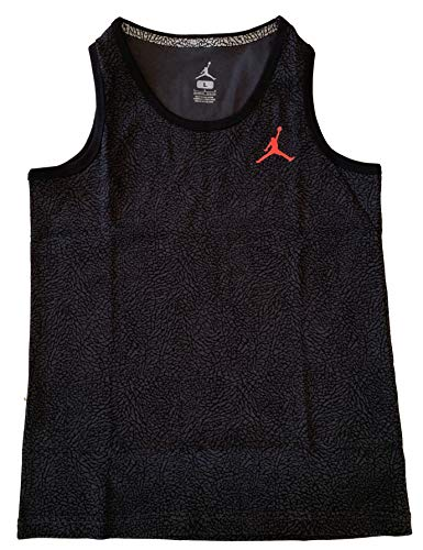 Jordan Boys Grade School (8-20) Jumpman Logo Sleeveless Tank Top Shirt (Black, X-Large)