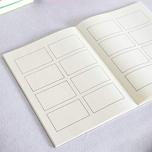 Blank Comic Book A4 Size Comic Pannel Draw Your Own Comics, Cartoon Characters, Creative Ideas, Personal Story Skectchbook for Kids and Adults,128 Page ()