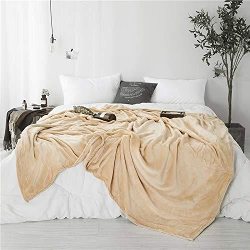 Sleepwish Super Soft Flannel Fleece Blanket Luxury Throw Blanket Camel Warm Cozy Plush Throw Lightweight for Bed Sofa Couch