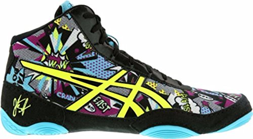 ASICS Men's JB Elite V2.0 Wrestling Shoe, Comic/Flash Yellow/Blue Alt, Size 12 by ASICS