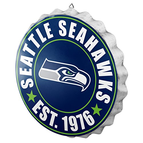 Decor Seattle Home Seahawks - Seattle Seahawks 2016 Bottle Cap Wall Sign