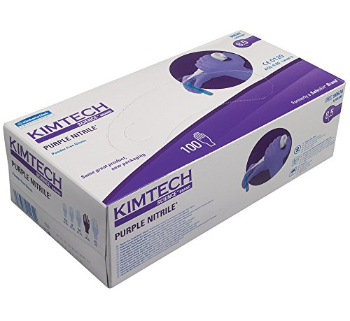 Kimtech Science Purple Nitrile Gloves Large 100 Pieces Hand Protection Safety Kimberly-Clark 90628