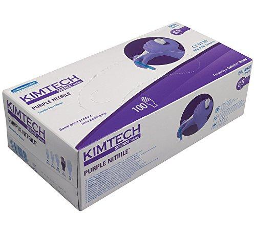 Kimtech Science Purple Nitrile Gloves - Small (Box of 100) Kimberly-Clark 90626