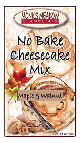(Monks Meadow Maple Walnut Cheesecake - No Bake Pie Mix in 5 oz box with easy to make instructions on Box (No Bake Cheesecake, Maple Walnut))