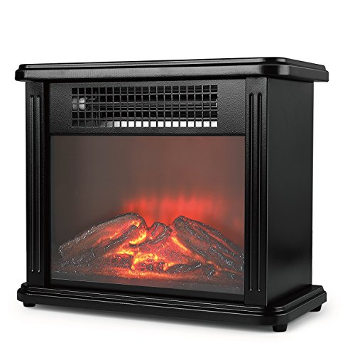 Espresso Electric Fireplace Package - 6