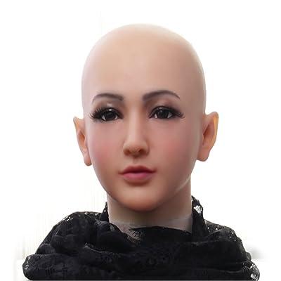 Ajusen Máscaras masculinas reales Silicona realista Mascarada de cabeza completa para crossdresser cosplayer Mascara hombre Fiesta de disfraces de halloween: Ropa y accesorios