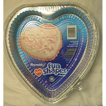Amazon Com Heart Shaped Foil Bake Pan 10 Pack Novelty