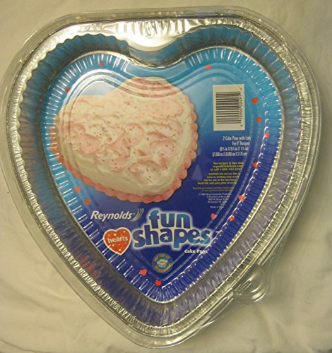 Reynolds Fun Shapes Hearts 2 Cake Pans with Lids for 8