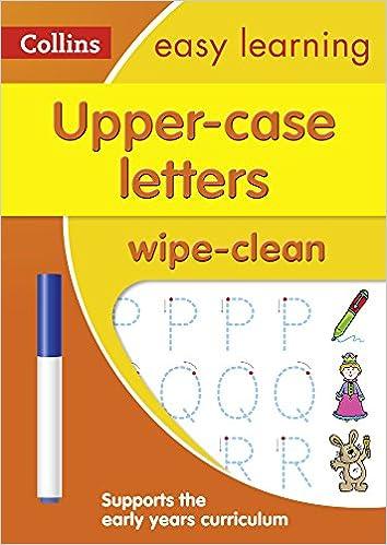 Collins Easy Learning Preschool Upper Case Letters Age 3 5 Wipe