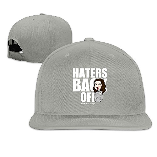 Where's Miranda Costume (LINNA Custom Unisex Hater Television Back Off Flat Billed Trucker Caps Hat Ash)