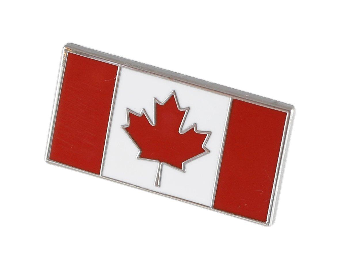 Forge Canadian Flag-Maple Leaf - Enamel Lapel Pins- Bulk (100 Pins) by Forge (Image #2)