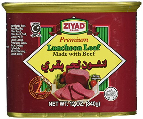 Ziyad Luncheon Halal Loaf Meat, Beef, 12 Ounce
