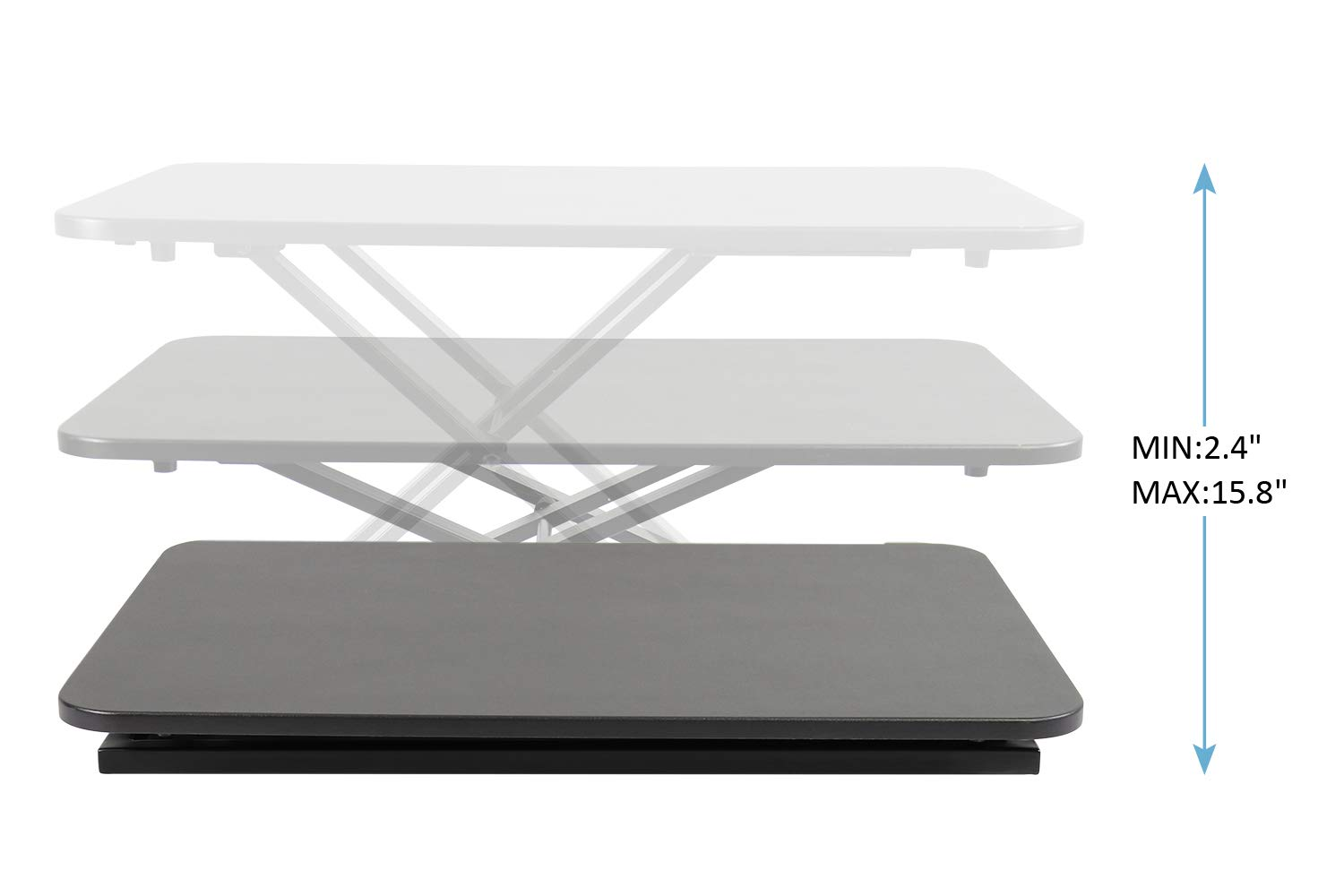 Standing Desk,Height-Adjustable, Sit/Standup Desk Converter