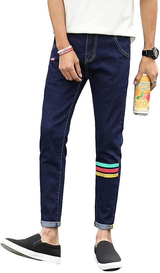 HUASHAN のジーンズ男性の足のズボン黒のストレッチスリム韓国のトレンドカジュアルパンツ学生パンツ ストレッチ スリム スキニー ストレッチパンツ スキニーパンツ カラーパンツ ズボン メンズ