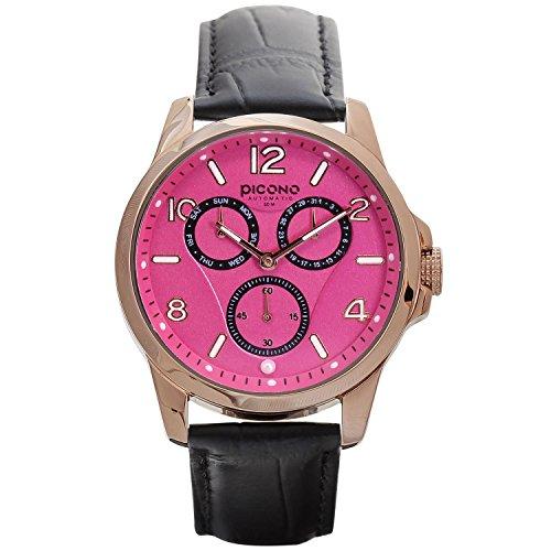 PICONO Mr.&Mrs. Pearl Series - Multi Dial Water Resistant Analog Quartz Watch - No. 4402 (Champagne) ()