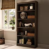 South Shore Axess Collection 5-Shelf Bookcase, Chocolate