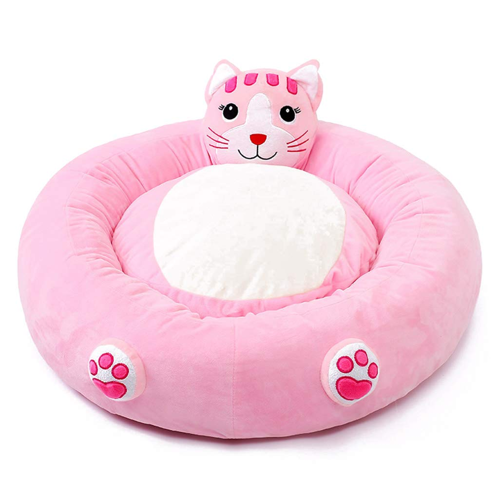 Pink 64cm17cmSile Pet Bed, Indoor Removable and Washable Cartoon Dog Bed Cat Nest Pet Soft Cushion Breathable Pet Sofa SL024 (color   orange, Size   64cm17cm)
