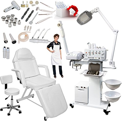 Elite Contemporary Table - 13-in-1 Elite Series Multifunction Diamond Microdermabrasion Facial Machine Salon Spa Beauty Equipment (w/Stationary Bed)