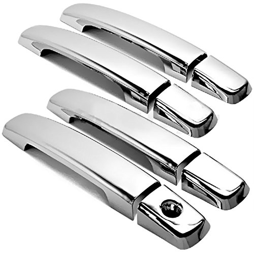 MaxMate Fits 07-12 Nissan Sentra/07-13 Altima/04-12 Frontier/04-08 Maxima/04-09 Quest Chrome 4 Doors Handle Cover W/O Passenger Side Keyhole No Smart Key Hole