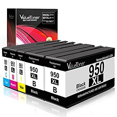 Valuetoner 950XL 951XL Remanufactured Ink Cartridge for HP 950 XL 951 XL Replacement 5 Pack for HP Officejet Pro 8100 8600 8610 8615 8620 8625 8630 8640 251dw High Yield (Black/Cyan/Magenta/Yellow)