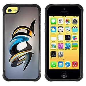 Planetar® ( Shiny Abstract Art ) Apple iPhone 5C Hybrid Heavy Duty Shockproof TPU Fundas Cover Cubre Case