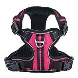 PUPTECK Best No-Pull Dog Harness with Vertical Handle,Calming Adjustable Reflective Outdoor Adventure Pet Vest,Pink XS