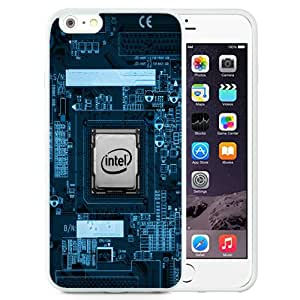 Beautiful Unique Designed Cover Case For iPhone 6 Plus 5.5 Inch With Intel Chip White Phone Case
