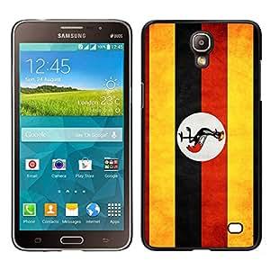 LECELL--Funda protectora / Cubierta / Piel For Samsung Galaxy Mega 2 -- Nacional bandera de la nación País Uganda --