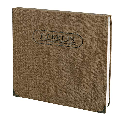 FaCraft Ticket Stud Organizer Album Book,Holds 120 3x6