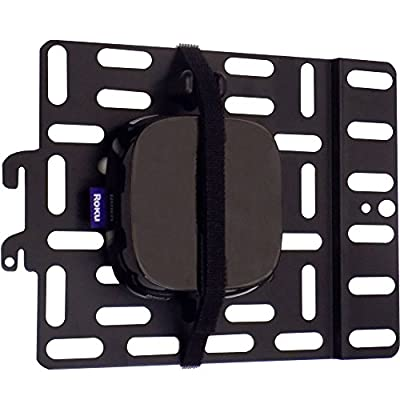 Universal Streaming Device Mount Holds Media Devices Up to 3lbs Securely Behind Flat Screen TVs - Compatible with Apple TV, Roku, Amazon Fire TV, TiVo Mini, and More - ECHO-SDMU