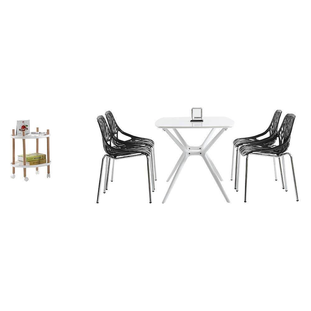 Amazon.com: 4 sillas de comedor para patio, estilo moderno ...
