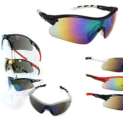 1 Polarized Sports Sunglasses Cycling Glasses Mens UV400 Bike Driving Lens