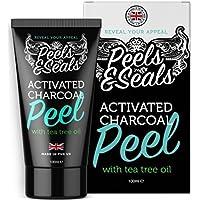 Point Noir Masque Visage exfoliant et purifiant au charbon actif contre les points noirs | Blackhead Remover | Contient de l'huile de théier pour nettoyer les pores de la peau | Fabriqué au Royaume Uni par Peels & Seals