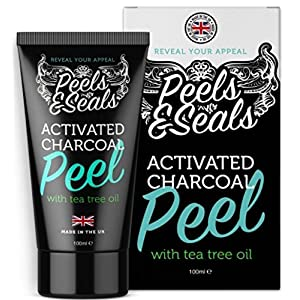 Blackhead Remover Face Peel Mask 100ml | Activated Charcoal black peel | Includes Tea Tree Oil for a Deeper Cleanse | Strips and Cleanses the Dirt out of the Pores | Simply Peel Off and Feel the Difference | Made in the United Kingdom by Peels & Seals